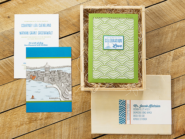 Wisconsin Lake Wedding Invitations Sugar River Stationers2 Courtney + Nates Wisconsin Lake Wedding Invitations