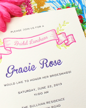 Colorful Floral Bridal Luncheon Invitations Rafftruck Designs3 Gracies Colorful Bridal Luncheon Invitations
