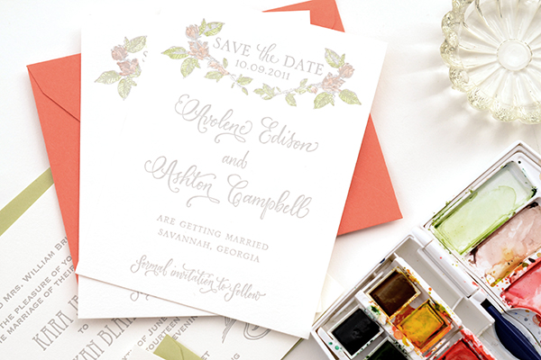 Hand tint Save the Date Final 1 DIY Tutorial: Hand Tinted Letterpress Save the Dates