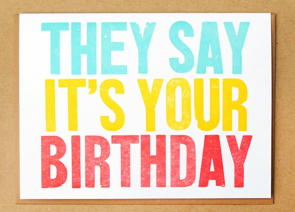 Letterpress Greeting Card Macon York Birthday Quick Pick: Macon York