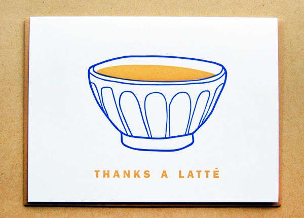 Letterpress Greeting Card Macon York Latte Quick Pick: Macon York