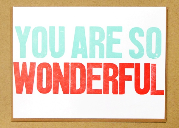 Letterpress Greeting Card Macon York Wonderful Quick Pick: Macon York