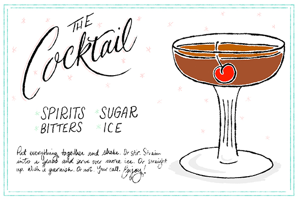 OSBP Signature Cocktail Recipe Illustration The Cocktail Friday Happy Hour: The Cocktail
