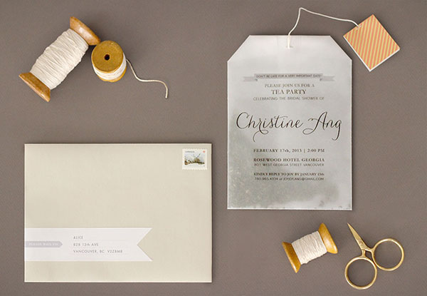 Tea Bag Bridal Shower Invitation Joy Ang Joys DIY Tea Bag Bridal Shower Invitations