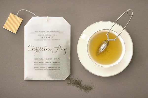 Tea Bag Bridal Shower Invitation Joy Ang9 Joys DIY Tea Bag Bridal ...