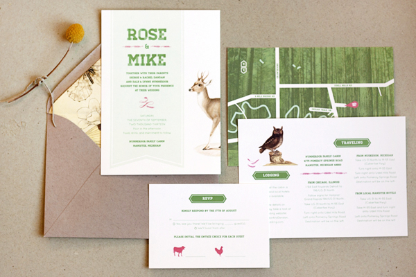 Woodland Wedding Invitations Frances Close Rose + Mikes Woodland Wedding Invitations