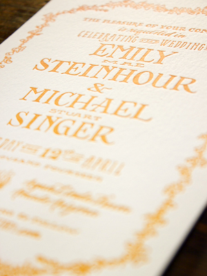 Hand Lettered Wedding Invitations Ladyfingers Letterpress OSBP4 Emily + Mikes Desert Botanical Wedding Invitations