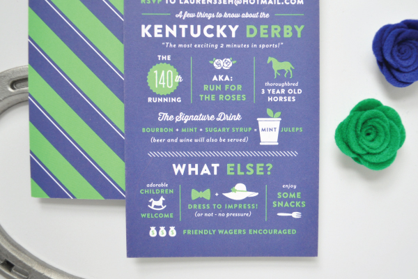 Kentucky Derby Day Invitations Lauren Chism Fine Papers6 Laurens Kentucky Derby Day Party Invitations