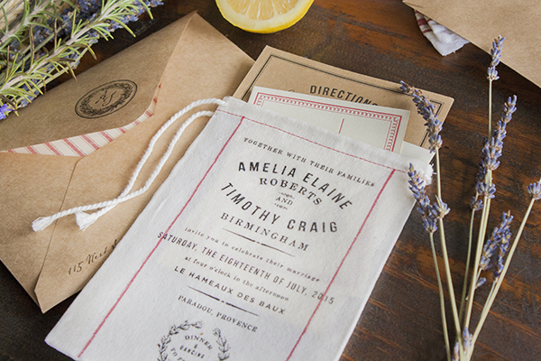 Muslin Bag Vintage Grain Sack Wedding Invitations Lucky Luxe10 Rustic Market Inspired Fabric Wedding Invitations