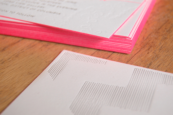 Neon Pink Modern Calligraphy Wedding Invitations5 Ashley + Jeffs Modern Chic Neon Pink Wedding Invitations