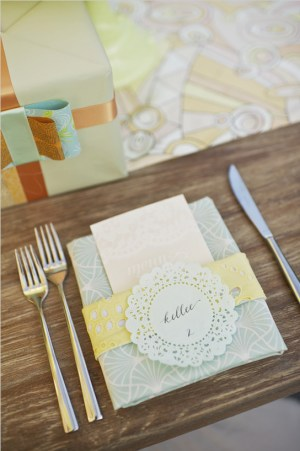 Pastel Place Cards Papermade Designs Mike Colon1 300x451 Wedding Stationery Inspiration: Pastels