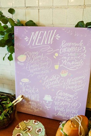 Pastel Wedding Menu Lindsay Letters Kelly Braman Photography 300x450 Wedding Stationery Inspiration: Pastels