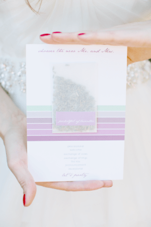 Pastel Wedding Programs Charmed Events Group Gladys Jem Photography 300x450 Wedding Stationery Inspiration: Pastels