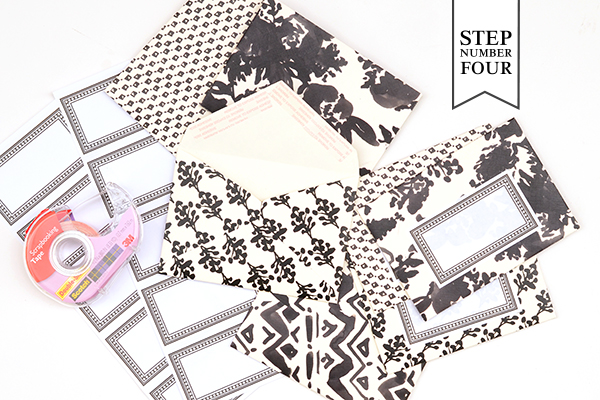 Pattern Stationery Step4 DIY Tutorial: Modern Personal Stationery Gift Set