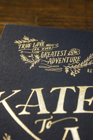 Rustic Elegant Letterpress Gold Foil Wedding Invitations Ladyfingers Letterpress4 Kate + Alexs Elegant Rustic Wedding Invitations