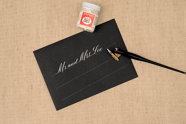 BlackandWhite Step2 DIY Tutorial: Envelope Addressing Styles