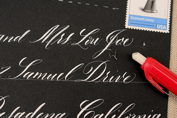 BlackandWhite Step4 DIY Tutorial: Envelope Addressing Styles