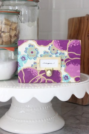 DIY Recipe Box OSBP 9 300x450 DIY Tutorial: Mothers Day Recipe Box