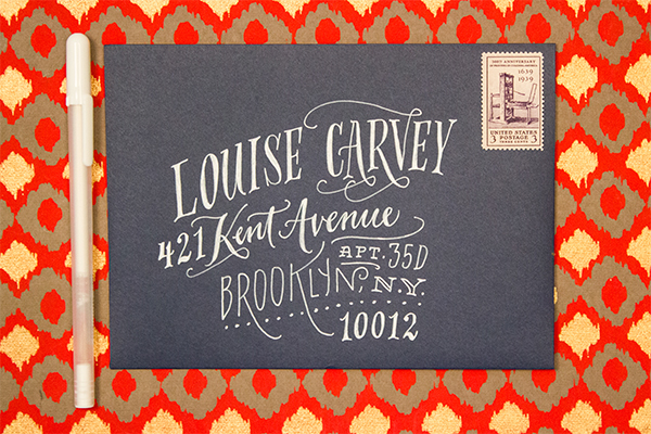 Hand Lettering Envelope Address Tutorial Ladyfingers Letterpress OSBP10 Envelope Address Hand Lettering Tutorial from Ladyfingers Letterpress