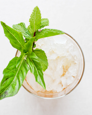 Signature Cocktail Recipe Basil Mint Julep OSBP 12 Friday Happy Hour: The Basil Mint Julep