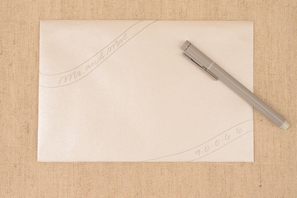Silver Step1 DIY Tutorial: Envelope Addressing Styles