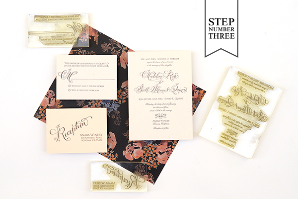 Autumn Floral DIY Step3 DIY Tutorial: Autumn Floral Wedding Invitations