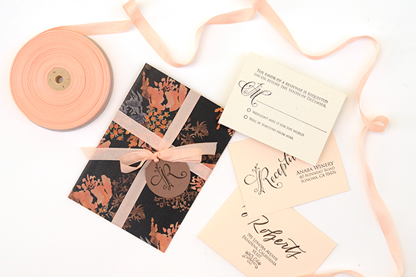Autumn Floral DIY Step8 DIY Tutorial: Autumn Floral Wedding Invitations