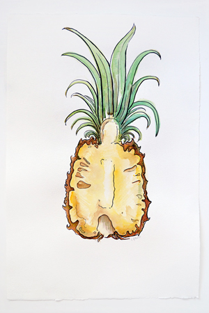 Courtney Khail Watercolor Painting OSBP Pineapple Quick Pick: Courtney Khail Watercolor Stationery