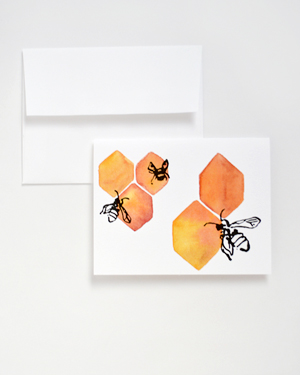 Courtney Khail Watercolor Stationery OSBP Honeycomb Quick Pick: Courtney Khail Watercolor Stationery