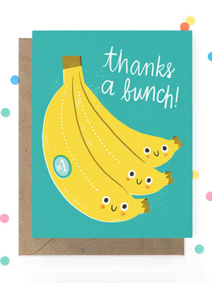 Hooray Today Banana Thanks Card Quick Pick: Hooray Today