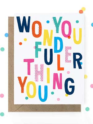 Hooray Today You Wonderful Thing Card Quick Pick: Hooray Today