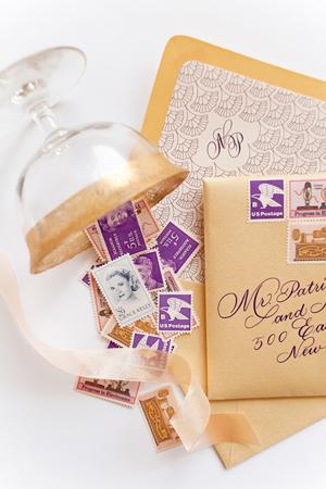 Lasercut Great Gatsby Wedding Invitations Coral Pheasant OSBP11 Nicole + Patricks Vintage Inspired Lasercut Wedding Invitations