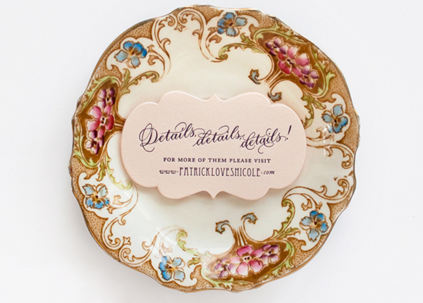 Lasercut Great Gatsby Wedding Invitations Coral Pheasant OSBP6 Nicole + Patricks Vintage Inspired Lasercut Wedding Invitations