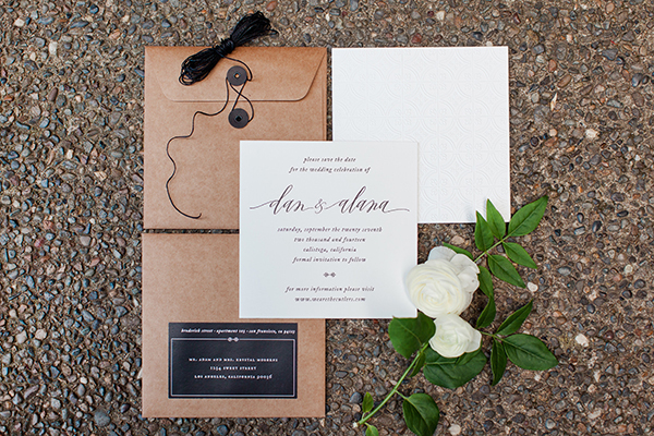Letterpress Blind Emboss Save the Date Vellum and Vogue OSBP8 Alana + Dans Blind Emboss Letterpress Save the Dates