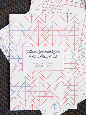 Modern Geometric Wedding Ceremony Program Cory Ryan Photography Wedding Stationery Inspiration: Geometric Shapes