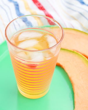 OSBP Peach Cantaloupe White Wine Sangria Summer Cocktail Series: Cocktail Picnic Party Recipes