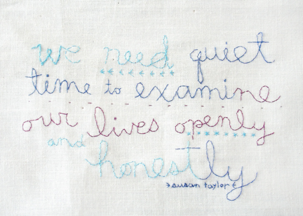 Alli Coate Quiet Time Susan Taylor Quote Print The Beginning of Oh So Beautiful Paper