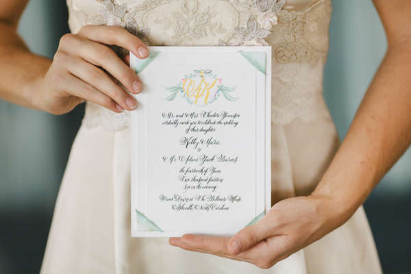 Biltmore Estate Inspired Watercolor Wedding Invitations Momental Designs OSBP 11 Hand Painted Wedding Invitation Inspiration