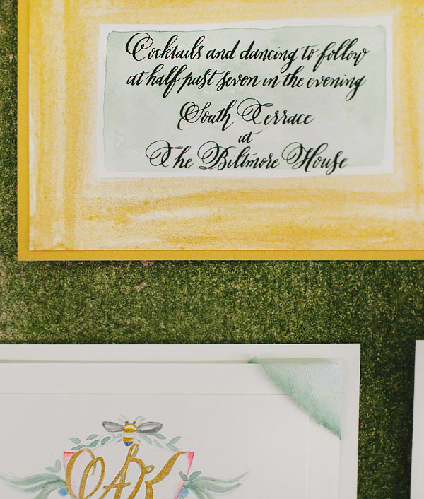 Biltmore Estate Wedding Invitation Inspiration Momental Designs OSBP3 Hand Painted Wedding Invitation Inspiration