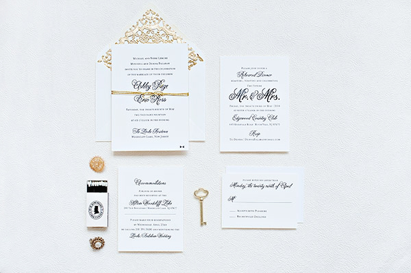 Classic Black White Wedding Invitations Suite Paperie OSBP Ashley + Erics Classic Black and White Wedding Invitations