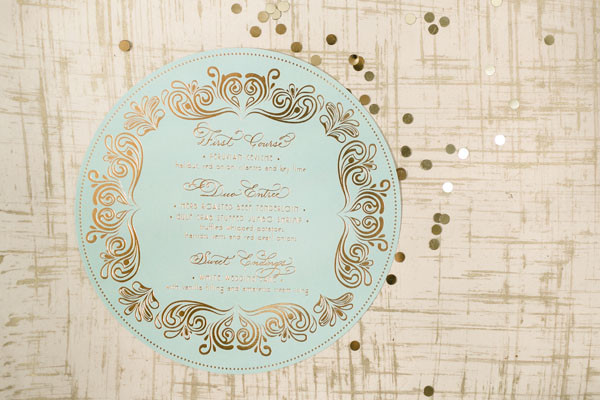 Elegant Gold Foil Blush Pink Wedding Invitations Papellerie OSBP11 Michelle + Renzos Elegant Gold Foil Wedding Invitations