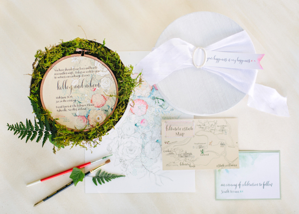 Embroidery Inspired Wedding Invitations Momental Designs OSBP 1 Embroidery and Millinery Wedding Invitation Inspiration