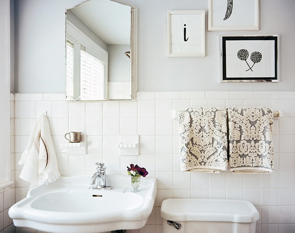 Gray White Bathroom OSBP at Home: Small Bathroom Renovation Inspiration