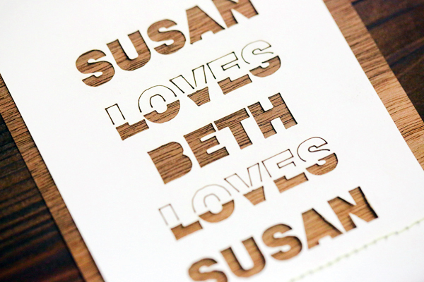 Laser Cut Wood Wedding Invitations Fourth Year Studio3 Susan + Beths Laser Cut Wood Veneer Wedding Invitations