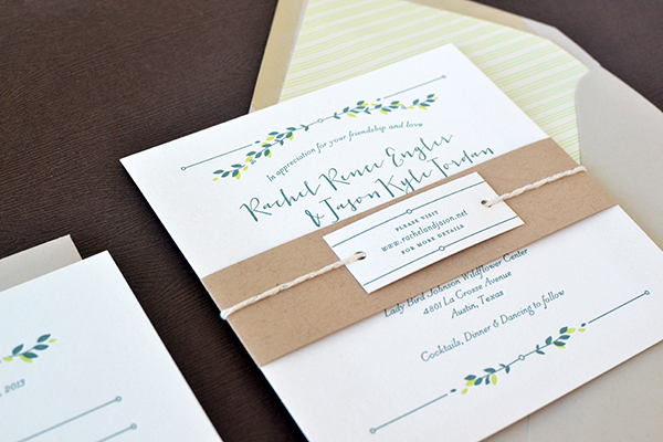Minimalist Nature Inspired Letterpress Wedding Invitations Studio SloMo4 Rachel + Jasons Modern Nature Inspired Wedding Invitations