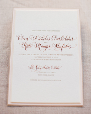 Romantic Rose Gold Wedding Invitations Gus and Ruby Letterpress7 Kate + Cleons Romantic Rose Gold Foil Wedding Invitations