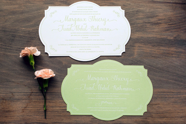 Bilingual English French Wedding Invitations Atheneum Creative OSBP7 Margaux + Fuads Rustic French Wedding Invitations