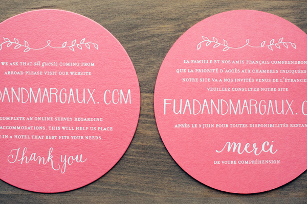 Bilingual English French Wedding Invitations Atheneum Creative OSBP8 Margaux + Fuads Rustic French Wedding Invitations