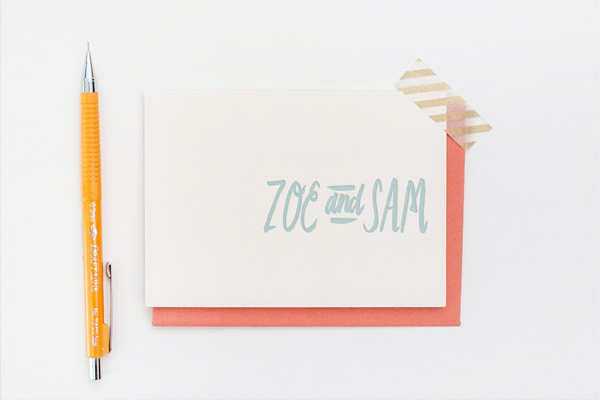 Personalized Letterpress Stationery Erin Wallace OSBP Quick Pick: Erin Wallace Letterpress Stationery