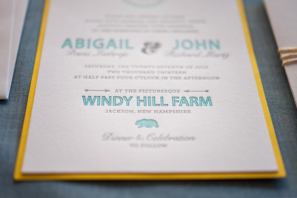 Rustic Letterpress Summer Wedding Invitations Gus and Ruby Letterpress OSBP6 Abbi + Johns Rustic Summer Wedding Invitations